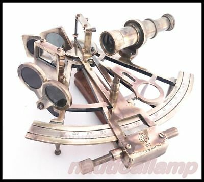 Vintage KELVIN & HUGHES Solid Brass Astrolabe Sextant Maritime Working Sextant