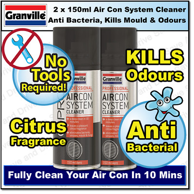 2x Granville Car Air Con Bomb Air Conditioning Neutraliser & Odour Sanitiser