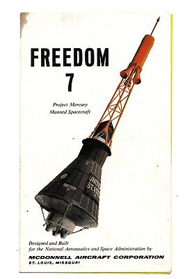 FREEDOM 7 PROJECT MERCURY MANNED SPACECRAFT McDonnell Aircraft NASA '61 brochure