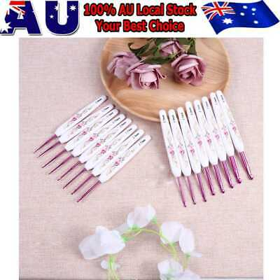 16Pcs/Set Retro Crochet Hooks Set Knitting Needles Set Sewing Tools Weaving Tool