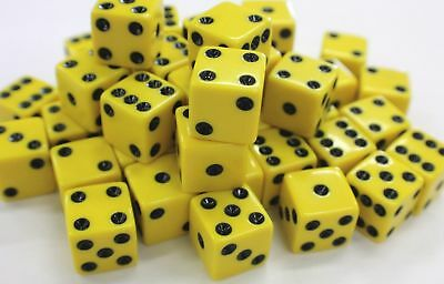"""WHOLESALE LOT 200 TRANSLUCENT RED DICE 6 SIDED D6 DIE GAME SIX 5//8/""""16mm CLEAR"""