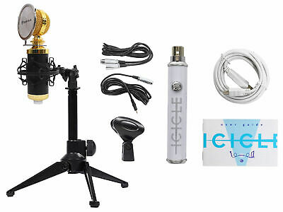 Rockville RCM02 Gaming Twitch Recording Microphone+Stand+Shockmount+Pop Filter