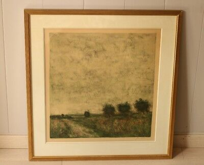 """Lithography of Gantner Bernard """"Field of Poppies"""" No 7/185 with certificate"""