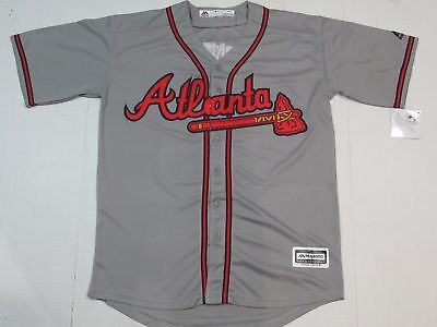 NWT Chipper Jones  10 Atlanta Braves Cool Mens Retired Player Jersey Gray 5d3b2cc09