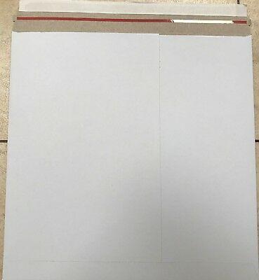 """12"""" Lp White Budget 350 Gsm Peel & Seal Record Mailers 1,10,25,50,100,200 +24H D"""