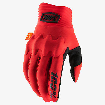 2019 100% Cognito Motocross Mx Enduro Mtb Bike Gloves - Red / Black