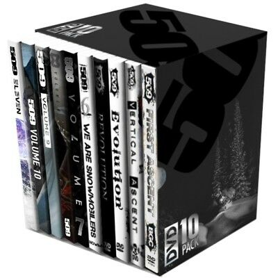 509 Collectors Edition 10 Pack Snowmobile DVD Backcountry Locations US & Canada