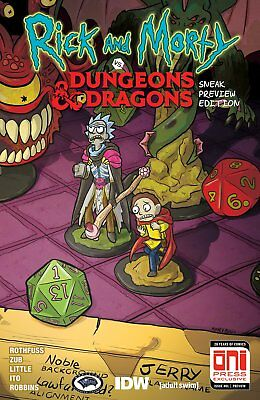 Rick and Morty vs Dungeons & Dragons #1 Sneak Peek Preview Edition