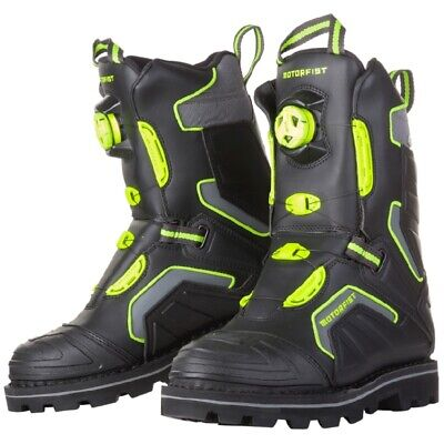 Motorfist Men's Stomper Boa Boots Waterproof Liner 800g Insulation, Black Hi-Vis