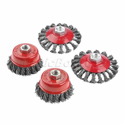 """3/4"""" Metals Twist Knot Wire Cup Brush Wire Semi Flat Brush Wheel Angle Grinder"""