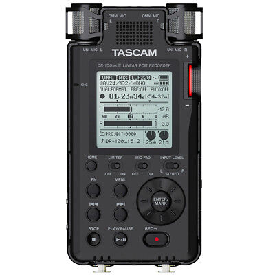 Tascam DR-100MKIII Handheld Linear PCM Recorder, New!