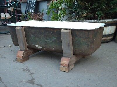 Antique Rustic Reclaimed  Cast Iron  Garden Planter