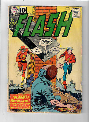 FLASH #123 - Grade 3.0 - First Golden Age Flash in Silver Age! First Earth-2