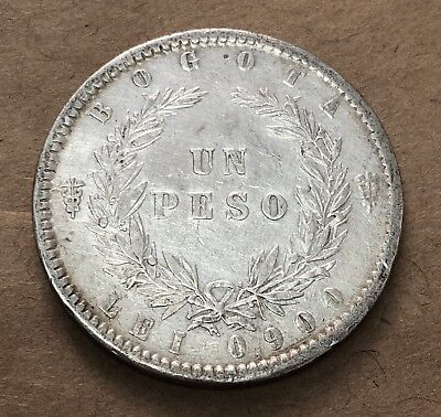 Colombia 1 Peso 1859 Excellent Condition.
