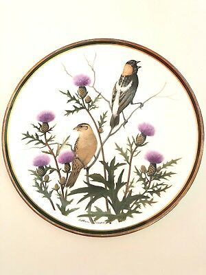 """Collection FRANKLIN PORCELAIN """"Songbirds of the World"""" 1977 By Arthur Singer"""