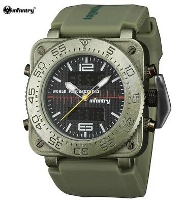 Classic Infantry Brand Military Style Watch Dual Display