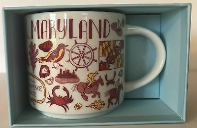 Starbucks Been There Series Collection Maryland Coffee Mug New With Box