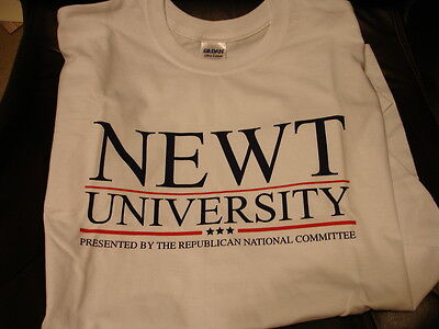 """Republican National Convention - Newt Gingrich - """"newt University"""" - Adult Xl"""