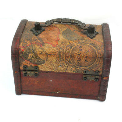 Wooden Jewelry Boxes Decor Vintage Treasure Chest Wood Ancient Style Box
