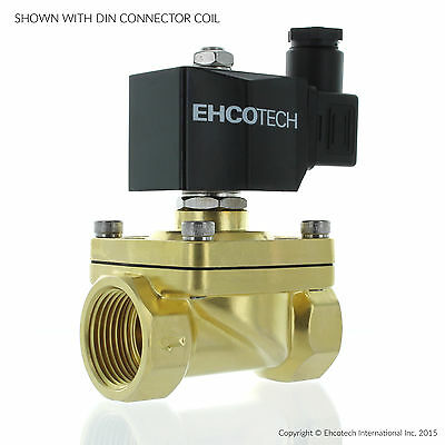 """1"""" NPT 120VAC N/O Brass Electric Solenoid Valve Water Air Gas Normally Open"""