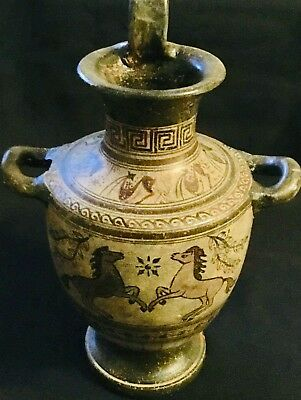 Ancient Greek Hydria Vase Pottery Museum Replica Reproduction (1059).