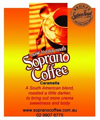 Roasted Coffee Beans Caramella Blend Soprano Coffee