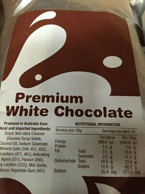 White Chocolate 750grm