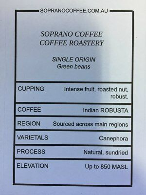 INDIAN CHERRY AB robusta Raw green coffee beans | Soprano Coffee $17.85/kg fo...