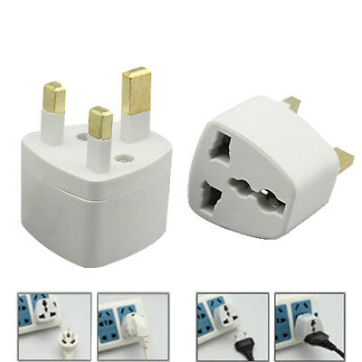 Home Office Travel Universal US/EU to UK AC Power Plug Converter Adaptor tall