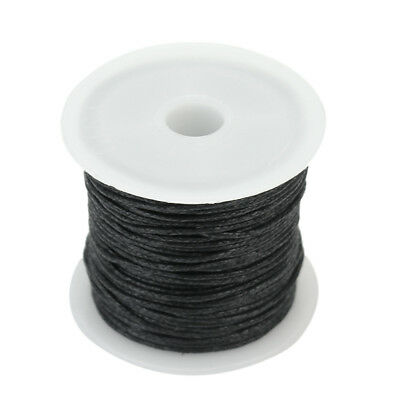 1 Roll Waxed Cotton Cord String Thread Beading Jewelry Leathercraft Making 1mm
