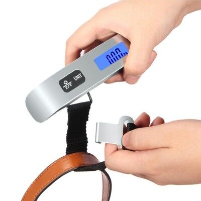 Portable Digital Luggage Scale LCD Display Travel Hook Hanging Weight 110lb Heat