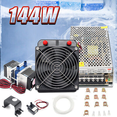 TEC1-12706 Thermoelectric Cooler Peltier Refrigeration Water Cooling+Pump+Pipe