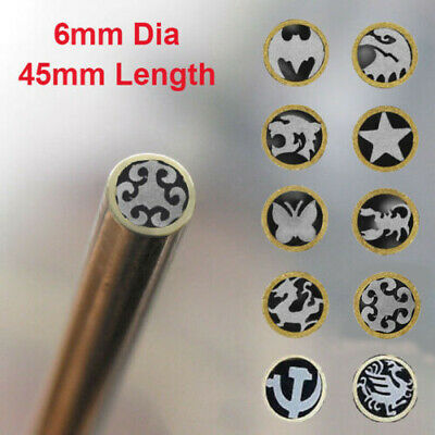6mm Dia Mosaic Pin Knife Handle Brass+Steel Tube Rivets Brooch Frame Making New