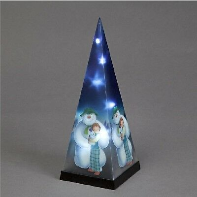 The Snowman And The Snowdog Laser Pyramid Christmas Xmas Decoration