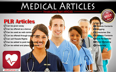 200+ PLR Articles on Medical Niche Private Label Rights