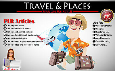 1000+ PLR Articles on Travel and Places Niche Private Label Rights
