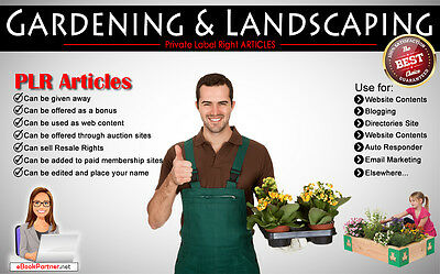 180+ PLR Articles on Gardening and Landscaping Niche Private Label Rights