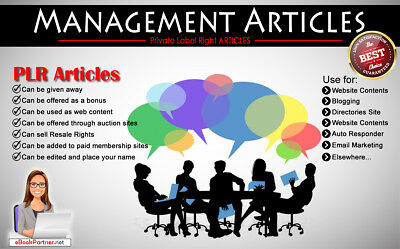 700+ PLR Articles on Management Niche Private Label Rights