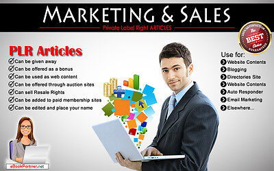 1800+ PLR Articles on Marketing and Sales Niche Private Label Rights