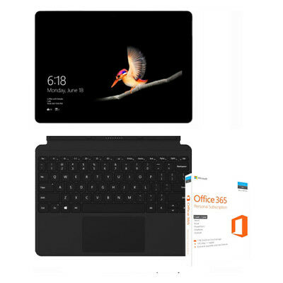Microsoft Surface Go - 8GB RAM - 128GB SSD with Office 365 and Type Cover -Black