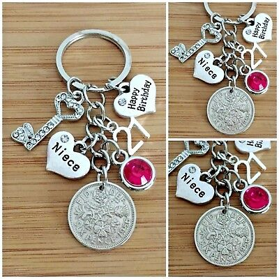 18th 21st Key Birthday Gift Keyring For Daughter Sister Niece Cousin Friend 3 Collezionismo