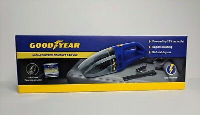 NEW! Official Goodyear Licensed High-Powered Compact Car Vacuum!