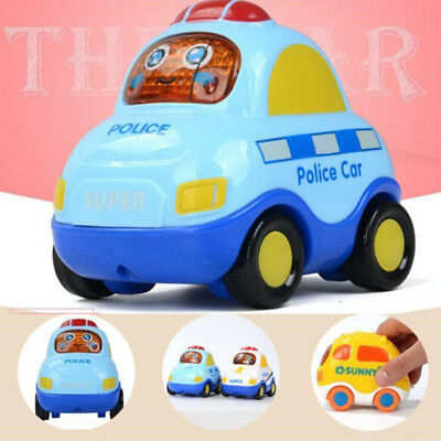 1PCS Set Baby Cartoon Toy Cars Inertial Back Helicopter Cute Car Taxi Minibus