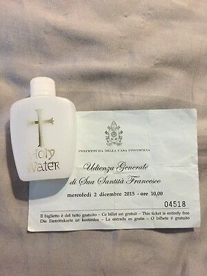 Blessed by Pope Francis 2015 - Holy Water* Vatican  Proof Of Blessing 💫 Papà