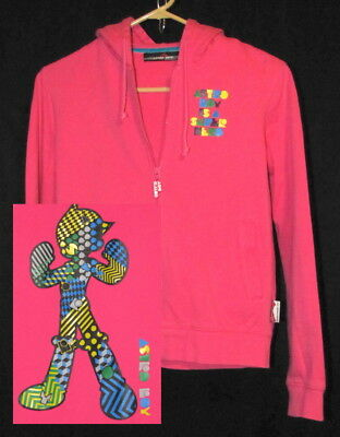Rare Authentic ASTRO BOY Womens Hoodie Small Pink Mighty Atom Tezuka Productions