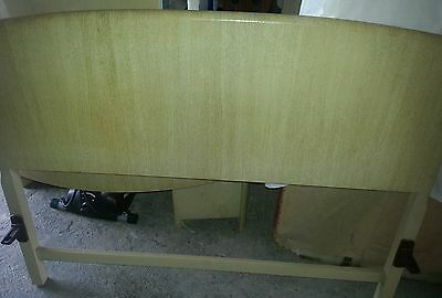 Solid wood, limed oak, double bed, header and footer, vintage circa 1930's retro