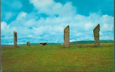 Stenness, Orkney - standing stones - Colourmaster postcard c.1970s