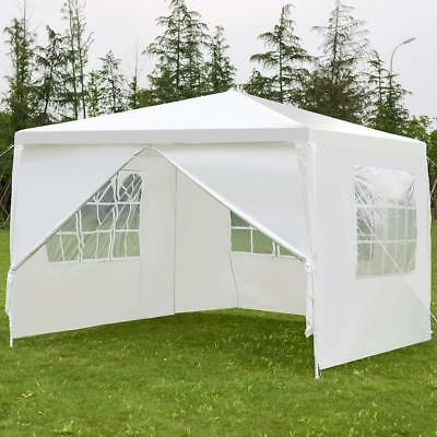 10'x10' Canopy Party Wedding BBQ Tent Heavy Duty Gazebo Shelter Pavilion Cater