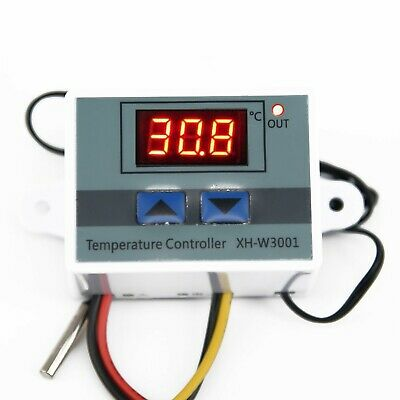 12V 220V Digital LED Temperature Controller + Probe For Aquarium / Incubator