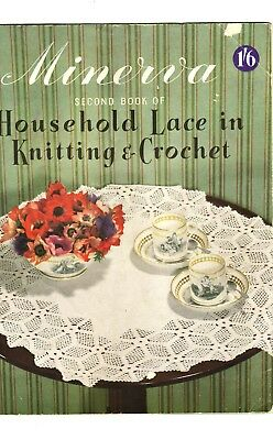 Vintage Minerva Second Book Of Household Lace In Knitting & Crochet